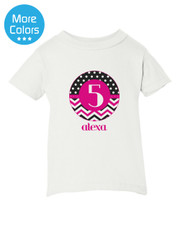 Personalized Birthday Iron On Transfer: Chevron Dot New