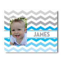 Chevron Picture Frame Blue