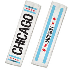 Personalized Chi-Town Burp Cloth Set