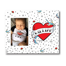 Personalized True Love Tattoo Picture Frame Red