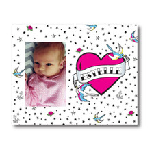Personalized True Love Tattoo Picture Frame Pink