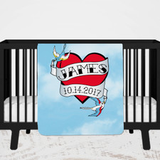 Personalized Tattoo Baby Blanket