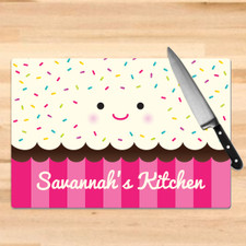 Personalized Freshly Baked Cupcake Cutting Board