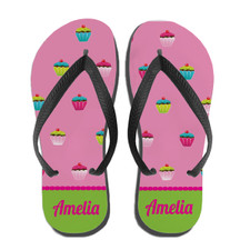 Personalized Sweet Stuff Cupcake Flip Flops