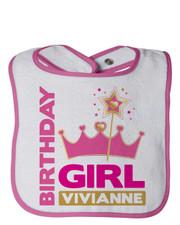 Personalized First Birthday Bib Pretty Princess