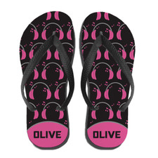 Personalized Boppin' 2 the Beatz Flip Flops Pink