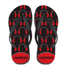Personalized Boppin' 2 the Beatz Flip Flops Red