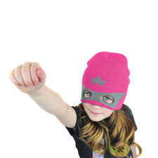 Super Hero Knit Beanie Pink