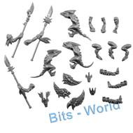 WARHAMMER BITS - LIZARDMEN TERRADON/RIPPERDACTYL - SKINK RIDERS with JAVELINS 3x