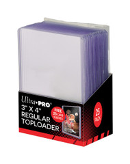 "Ultra PRO: 3"" X 4"" Clear Toploader with Card Sleeves (25)"