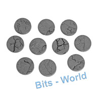 WARHAMMER BITS: SHATTERED DOMINION BASES - 40mm ROUND BASES x10