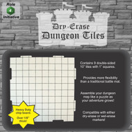"Dry Erase Dungeon Tiles - 10"" Interlocking Tiles (9)"