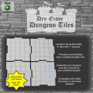 "Dry Erase Dungeon Tiles - 5"" Interlocking Tiles (36)"