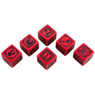 Q-Workshop: Battletech House Kurita Dice Set (6)