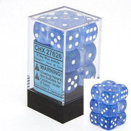 Chessex: Borealis: 16mm D6 Sky Blue/White (12)