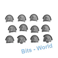 WARHAMMER 40K BITS: DEATHWATCH LAND RAIDER - SHOULDERPADS x12