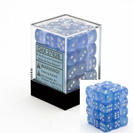 Chessex: Borealis: 12mm D6 Sky Blue/White (36)