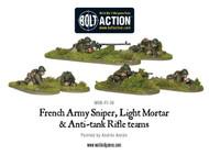 Bolt Action: France - Army Sniper, Light Mortar & Anti-Tank Rifle Teams