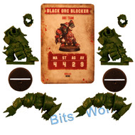 WARHAMMER BITS: BLOOD BOWL BLACK ORC BLOCKER x2