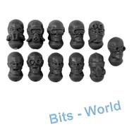 WARHAMMER 40K BITS: TYRANID NEOPHYTE HYBRIDS - 4TH GENERATION HEADS X11