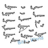 WARHAMMER 40K BITS: TYRANID NEOPHYTE HYBRIDS - 4th GEN AUTOGUNS x6 & SHOTGUNS x6