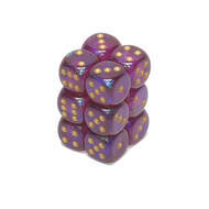 Chessex: Borealis: 16mm D6 Royal Purple/Gold (12)