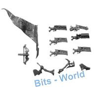 WARHAMMER BITS: DARK ELVES WARLOCK/DARK RIDERS - XBOWS 5x & BANNER UPG