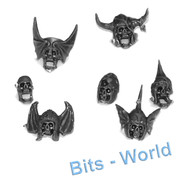 WARHAMMER BITS: VAMPIRE COUNTS BLACK KNIGHTS / HEXWRAITHS - 7x KNIGHT SKULLS / HELMS