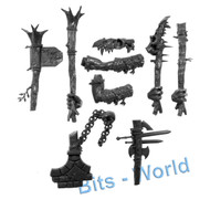 WARHAMMER BITS: ORCS & GOBLINS GARGANT - RIGHT ARMS & WEAPONS