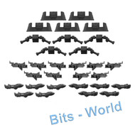 WARHAMMER 40K BITS: DEATHWATCH BIKERS - ARMS/TL BOLTERS/FRONTS x5