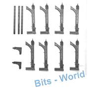 WARHAMMER 40K BITS: TERRAIN BASILICA - 8x HALF ARCHES