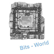 WARHAMMER/40K BITS -  GARDEN OF MORR - BASE WITH SKULLS