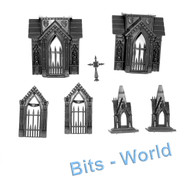 WARHAMMER/40K BITS -  GARDEN OF MORR - MAUSOLEUM WITH STEEPLE