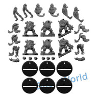 WARHAMMER BITS: BLOOD BOWL DWARF GIANTS - LINEMAN x6