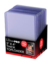 """Ultra PRO: 3"""" x 4"""" Super Thick 100pt Toploaders (25)"""