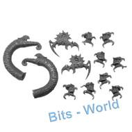 WARHAMMER BITS - DARK ELVES KHARIBDYSS/HYDRA - KHARIBDYSS HEADS