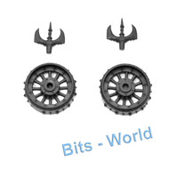 WARHAMMER BITS - WARRIORS OF CHAOS CHARIOT - WHEELS with SCYTHES 2x