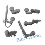 WARHAMMER 40K BITS - ASTRA MILITARUM CADIAN COMMAND SQUAD - PLAS PIST/FIST/SWORD