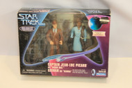 STAR TREK TNG - HOLODECK SERIES FROM THE EPISODE CLUES - PICARD & GUINAN (U-B1S3 183901)