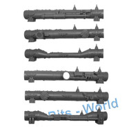 WARHAMMER 40K BITS: TERRAIN PROMETHIUM RELAY PIPES - LONG PIPES X3