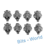 WARHAMMER 40K BITS: SPACE MARINES PRIMARIS AGGRESSORS - HEADS X8