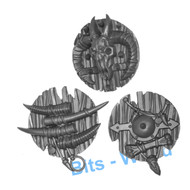 WARHAMMER BITS: BEASTMEN MINOTAURS - SHIELDS X3