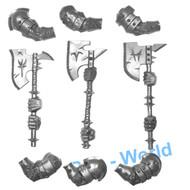 WARHAMMER BITS: BEASTMEN MINOTAURS - GREAT WEAPONS X3