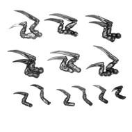 WARHAMMER 40K BITS: TYRANID VENOMTHROPES - CLAWS