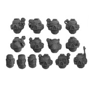 WARHAMMER 40K BITS: SPACE MARINES DEVASTATOR SQUAD - HEADS 14X