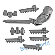 WARHAMMER 40K BITS: HORUS HERESY TARTAROS - POWER SWORD/GRENADE HARNESS/CHAINFIST UPGRADES