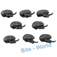 WARHAMMER 40K BITS - TYRANID GENESTEALERS - HEADS NORMAL 8x