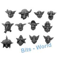 WARHAMMER 40K BITS - ORK GRETCHINS - HEADS 12x