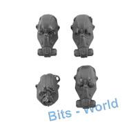 WARHAMMER 40K BITS - ASTRA MILITARUM BULLGRYNS/OGRYNS - BULLGRYN HEADS 4x