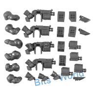 WARHAMMER 40K BITS - ASTRA MILITARUM BULLGRYNS/OGRYNS - RIPPER GUNS & ARMS 3x